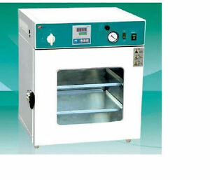 Lab Digital Vacuum Drying Oven 250 c 12x12x11 Cold Rolling Steel New