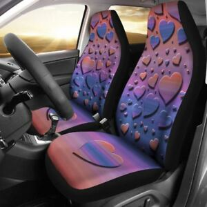 Heart Rainbow Car Seat Cover Unique