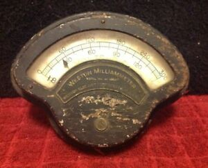 Vintage Weston Volts Dc 0 300 Milliammeter Panel Meter Gauge Model 209 Steampunk