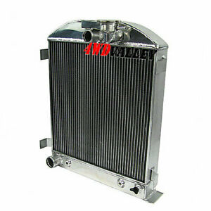4row Aluminum Radiator For Ford Hi Boy Hotrod Grill Shells Ford V8 Engine 1932