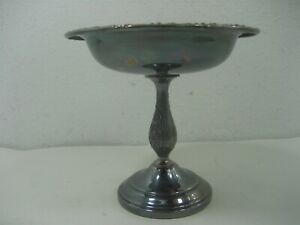 Vintage Sheridan Silver Plated Pedestal 6 Tall Candy Nut Bowl Dish