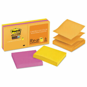 Post It Sticky Pop Up Notes 3x3 In Rio De Janeiro Collection Lot Of 6 Six Pks
