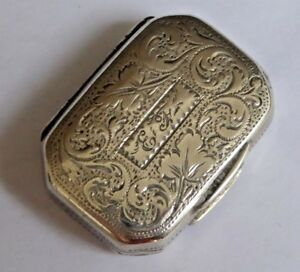 Antique Georgian Sterling Silver Vinaigrette Ledsam Vale 1820