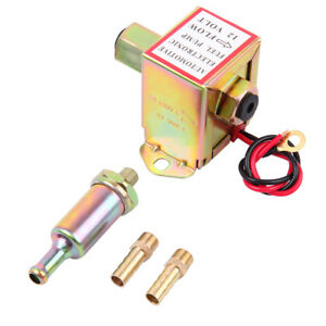 Electric Fuel Pump 12 Volt Solid State Universal 2 4 Psi 20 30 Gph Petrol