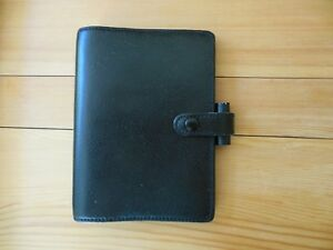 Donna Ricco New York Filofax Organizer Planner Pocket Windsor Black Leather