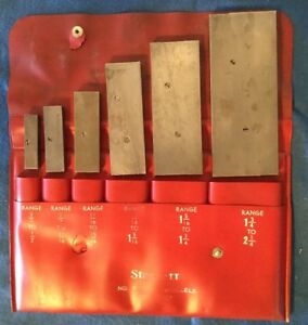 Starrett Parallels No S 154 L Set Of Six