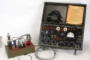 Signal Corps I 177b Tube Tester And 949 Adapter