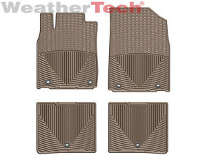 Weathertech All Weather Floor Mats For Lexus Es 2013 2018 1st 2nd Row Tan