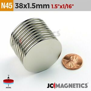 38mm X 1 5mm 1 5in X 1 16in N45 Super Strong Disc Rare Earth Neodymium Magnet