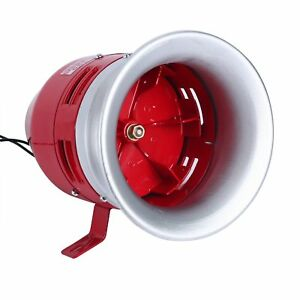Ac 110v 1 5a 125db Decibel Metal Safety Motor Horn Siren Buzzer Ms 390 Red
