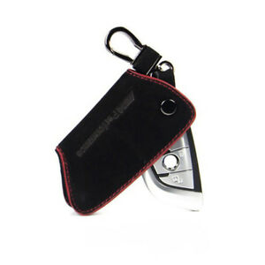 Fit Bmw Remote Key Case For Bmw Smart Key Holder Key Fob Cover Chain Cowhide