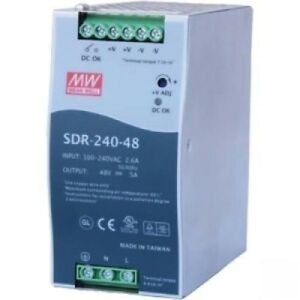 Mean Well Sdr 240 48ac dc Power Supply Singleout 48v 5a 240w 9 pin