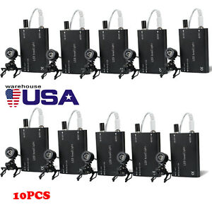 1 10pc Portable Black Led Head Light Lamp W Clip On For Dental Surgical Loupes