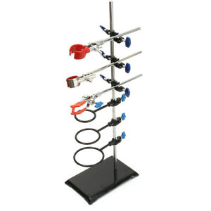 60cm Lab Laboratory Retort Stands Support Clamp Condenser Flask Platform Holder