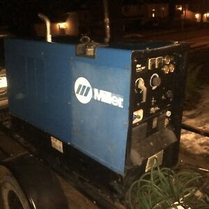 Miller Big Blue 500p With Perkins Engine Diesel Welder With Trailer 2100 Hours