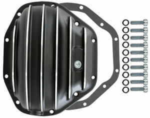 Black Finned Aluminum Dana 80 10 bolt Diff Differential Cover Ford Mopar Truck