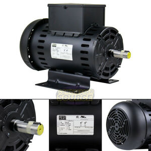 5 Hp Electric Motor Air Compressor Duty W182 4y Frame 3465 Rpm Single Phase Weg