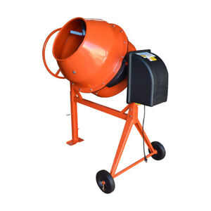 Hd Portable Electric 250l Steel Stucco Concrete Cement Mixer Contractor Mortar