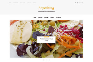 Appetizing Wordpress Website For Stunning Food Lifestyle Or Fitness Blog