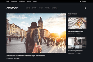 Autoplay Wordpress Website For Video Blog Magazine Or Youtube Channel