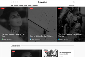 Featured Blog Magazine News Wordpress Website