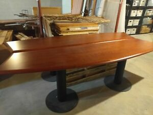 Handcrafted Solid Cherry Modern Conference Room Table