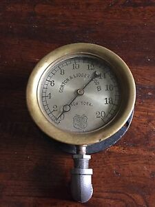 Steam Punk 1890 s Vintage 6 Inch Steam Gage Gorton Lidgerwood Co New York Dat