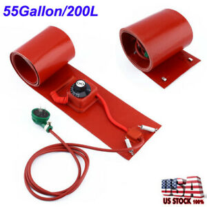 55gallon 200l 1000w Silicon Band Drum Heater Oil Biodiesel Metal Barrel Utility