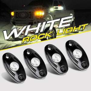4x 9w White Cree Led Rock Light Pods Offroad Trail Rig Lamp Under Body Truck 4wd