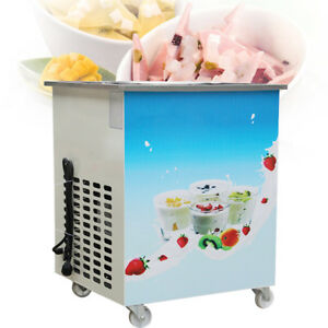 1050w Commercial Fried Ice Cream Machine Round Pan Ice Cream Roll Machine 110v