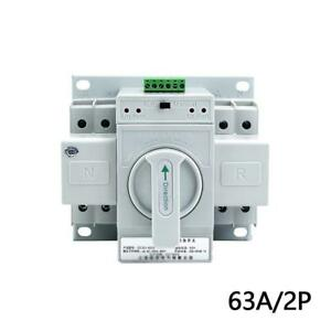 Dual Power Automatic Transfer Switch 2p 63a 220v 150 138 115mm Toggle Switch
