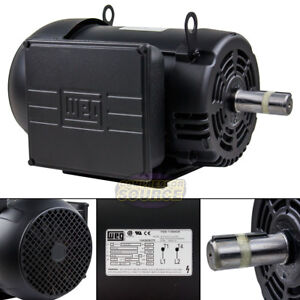 7 5 Hp Air Compressor Duty Electric Motor 215t Frame 1760 Rpm Single Phase Weg