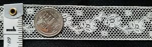 A31 Antique French Insertion Lace Insert 1yd 29 Edwardian 20 S Trim Floral Sew