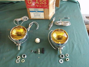 Nos 1965 1966 1967 1968 Ford Galaxie Mustang Bronco Fog Lights Rotunda Oem 67