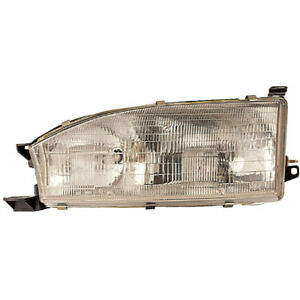 Left Side Headlight Assembly For Toyota Camry 1992 1993 1994