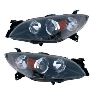 Pair New Left Right Headlight Assembly For Mazda 3 2004 2005 2006 2007 2008