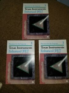 New Lot Of 3 Assorted Texas Instruments Enhanced Jfet Technology