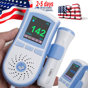 Pregnancy Baby Heart Rate Monitor Fetal Doppler Fhr Detection Clear Sound 3mhz