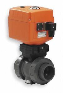 Pvc Electronic Actuated Ball Valve 2 Pipe Size 100 230vac Voltage