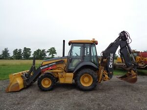 2015 Deere 310sk Backhoe Cab heat air 4wd E hoe Front rear Aux Hyd Hyd Qc