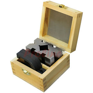 1 3 8 X 1 5 8 X 1 3 4 V Block Clamp Set Steel Gauge Gage Machinist Tool