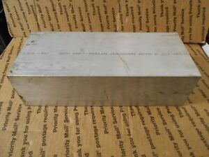 15 Lb Aluminum Plate 6061 Stock 3 Thick 4 1 2 Wide 10 7 8 Long Free Shipping
