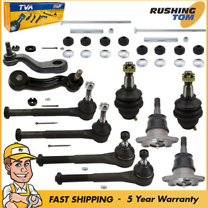 12 Steering Parts Tie Rod Ends Ball Joints Pitman Idler Arm Sway Bar Link 4x4