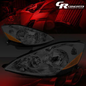 Left Right Smoked Housing Amber Corner Headlight Lamps For 06 10 Toyota Sienna