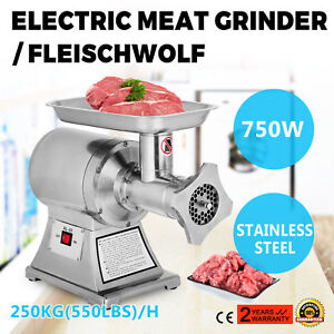 1hp Electric Meat Mincer Sauage Grinder Commercial 250kg h 550lbs h Stuffer