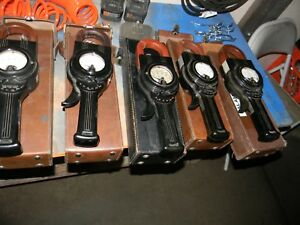 Lot Of 5 Vintage Weston Model 633 Clamp on Ammeter Cases