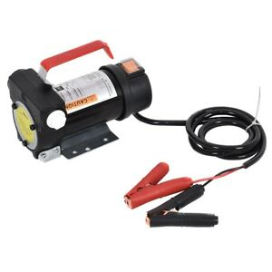 Portable 155w Electric Diesel Oil And Fuel Transfer Extractor Pump Motor Tool Us