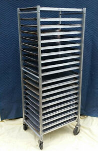 Win holt 20 Tier Commercial Aluminum Sheet Pan Rack With Pans 18 X 26 17017 Pa