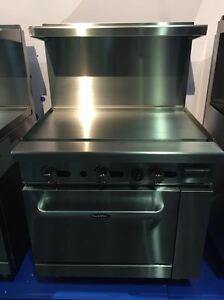 New Commercial 36 Range 36 Flat Top Griddle W Full Oven Stove Propane Gas