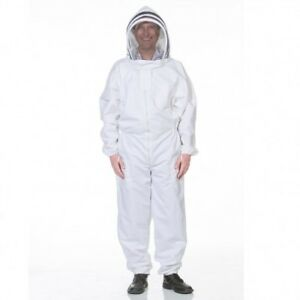 Heavy duty Beekeeping Suit With Fencing Veil Size Large
